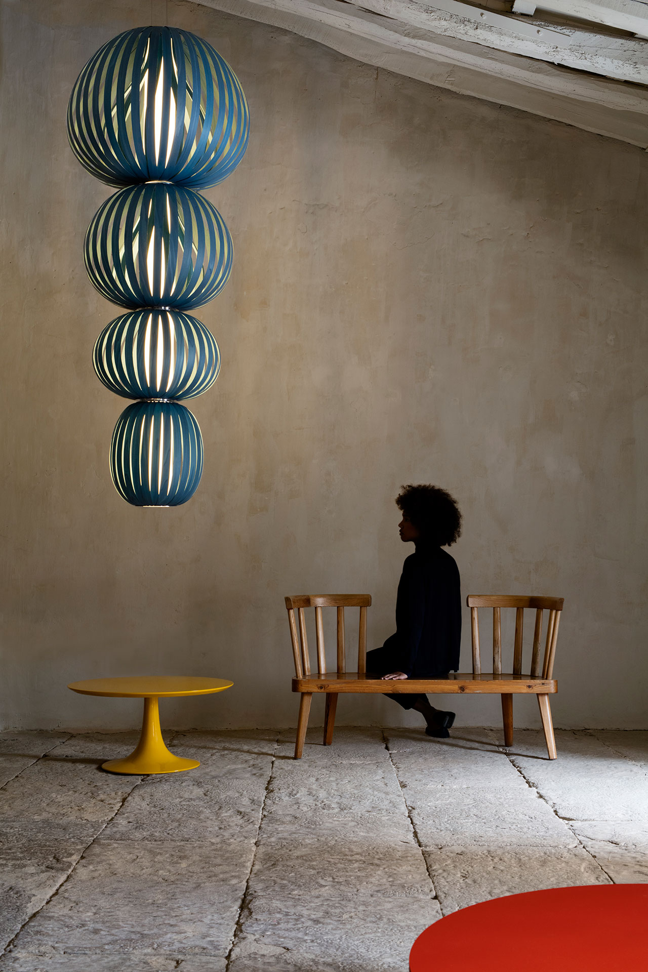 Totem pendant lamp by Burkhard Dämmer, from the Palacio de Casavells photo shoot. Photo by Klunderbie.