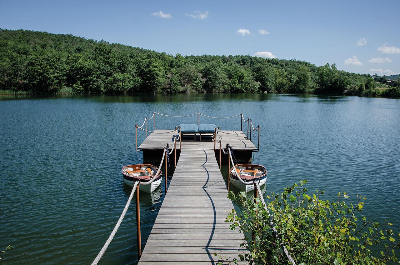 The Reschio Lake. Photo ©Reschioestate.