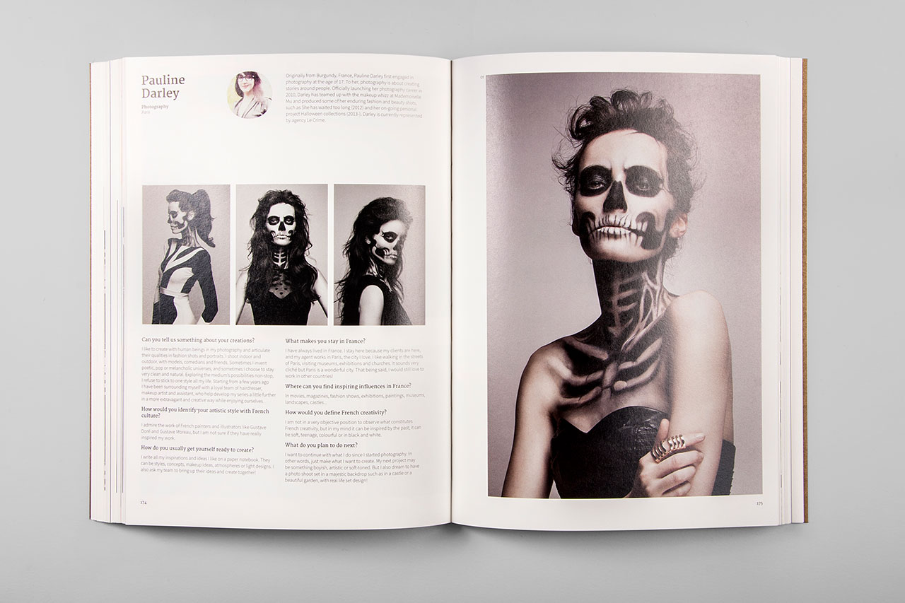 Design Origin: France book spread. Photo courtesy viction:ary.