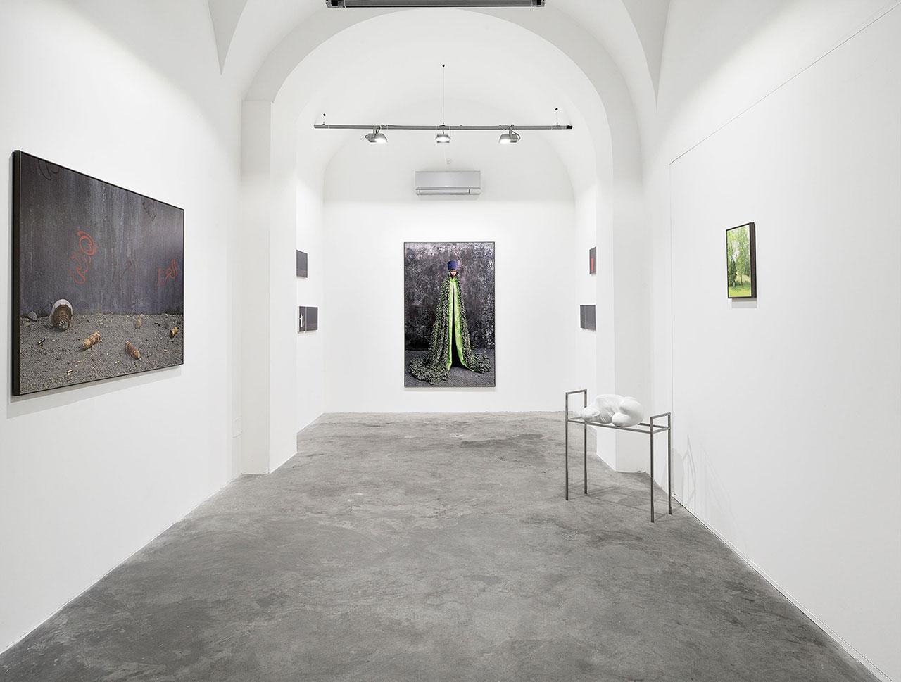 Maïmouna Guerresi,Talwin 2015-16, Installation view fromMateria Gallery-Rome. Copyright© Maïmouna Guerresi,courtesyMariane Ibrahim Gallery-Seattle&Matèria Gallery-Rome.