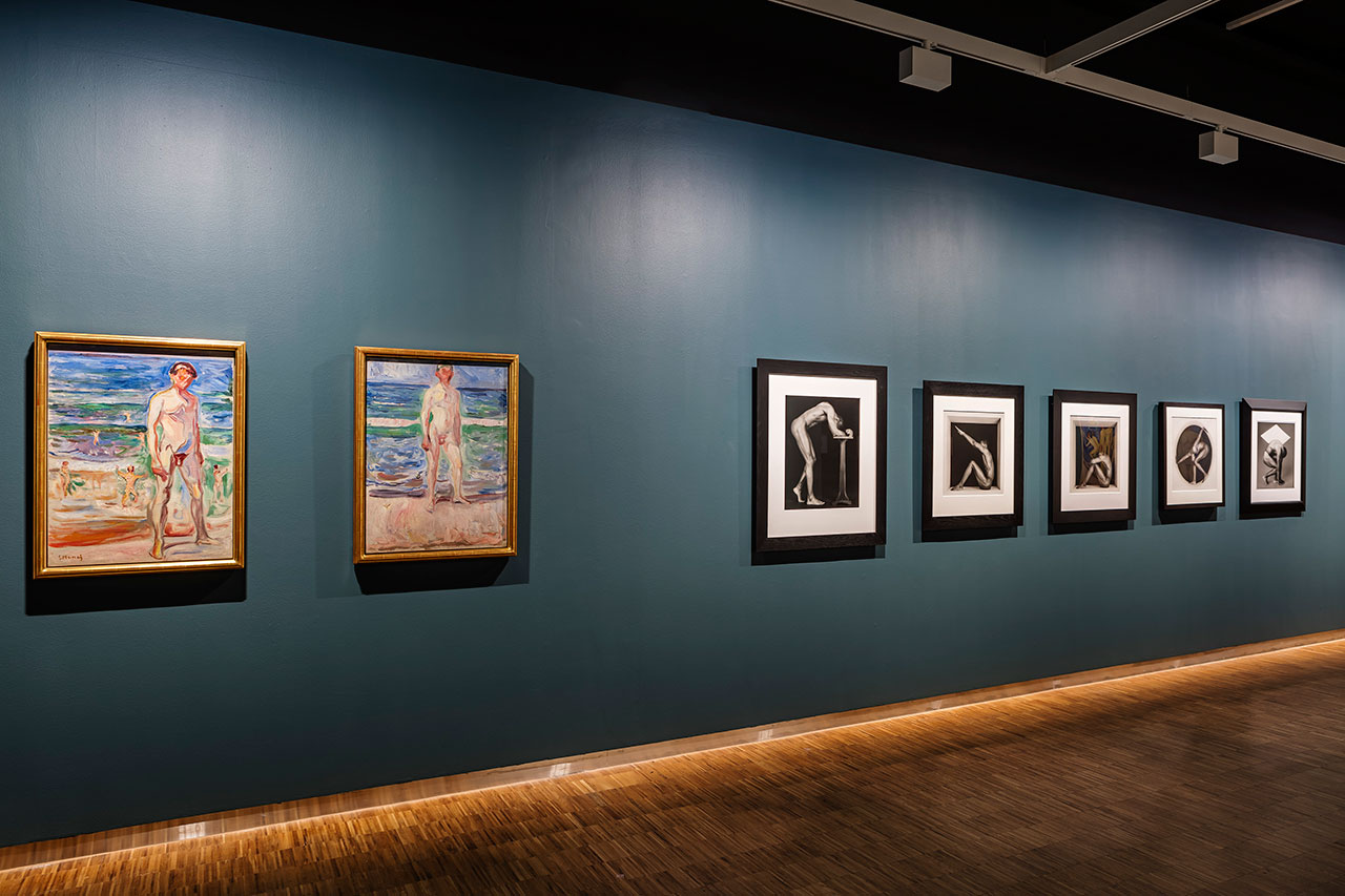 Mapplethorp + Munch exhibition at the Munch Museum, Oslo (2016). Installation view.Photo by Vegard Kleven.
