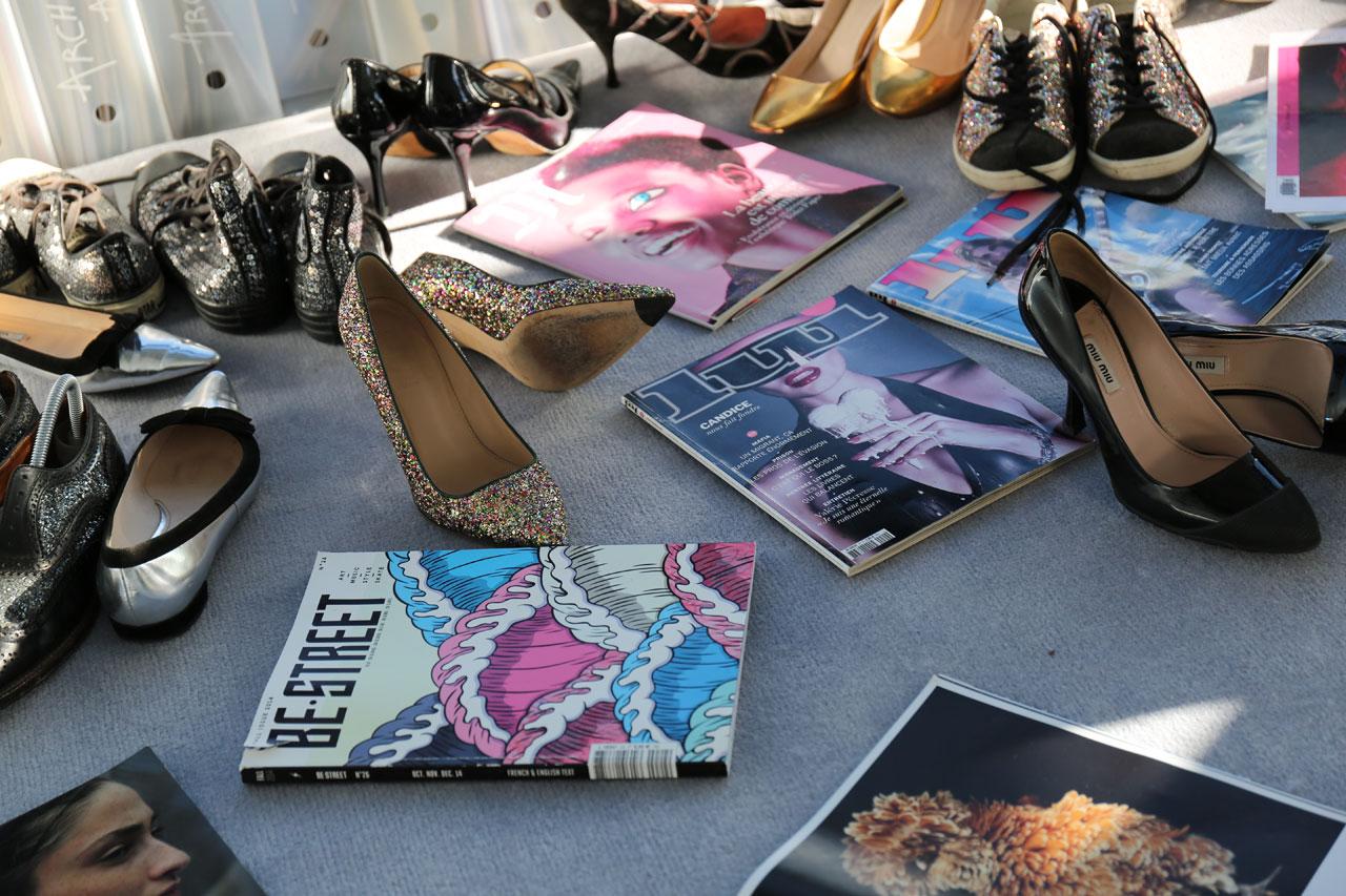 Stylish mess behind Mathilde Laurent's office. Photo byMohéli Rinaldi for Yatzer.