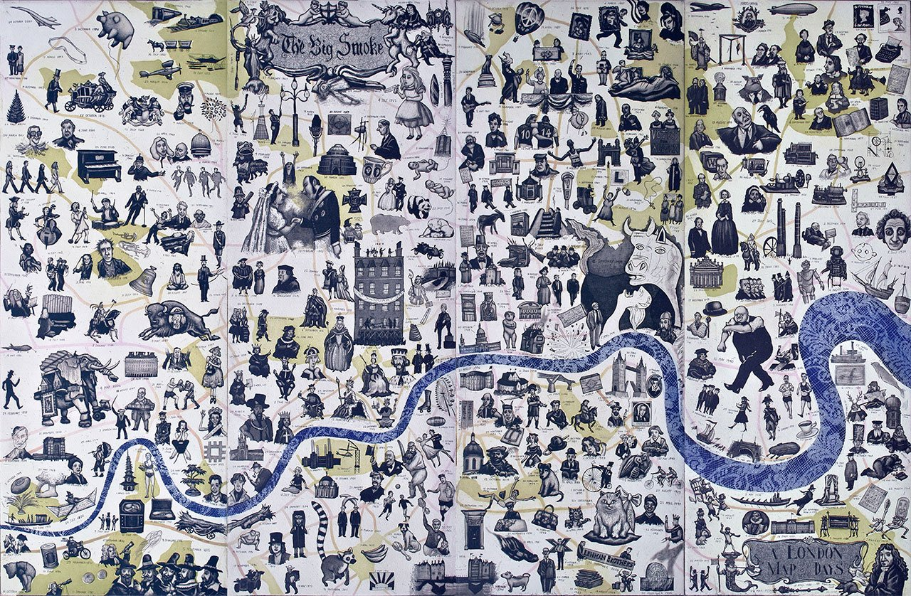 Mychael Barratt - A London Map of Days, 2015. From 'Mind the Map', © Gestalten 2015.