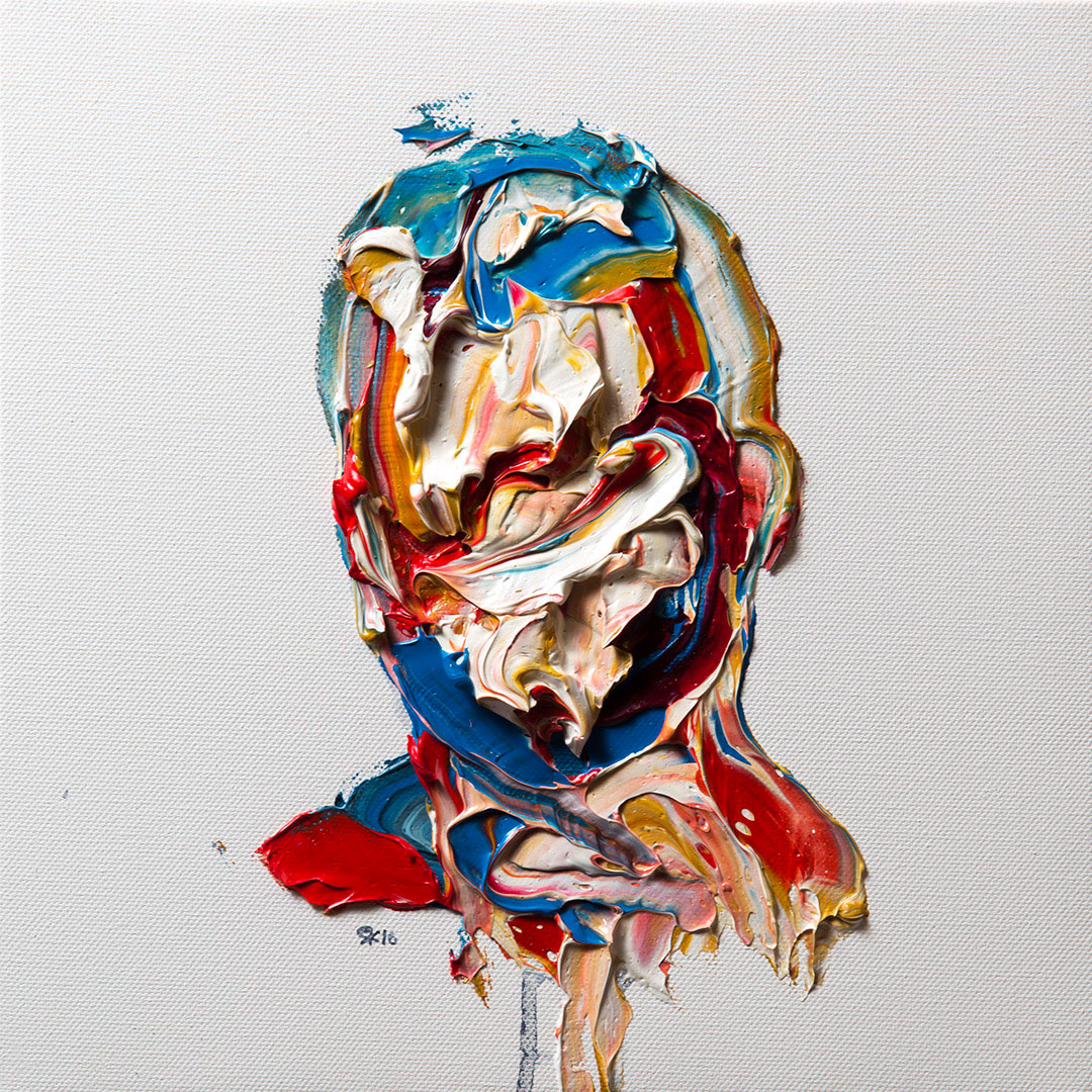 Salman Khoshroo,portrait study,28x28cm, oil on canvas.