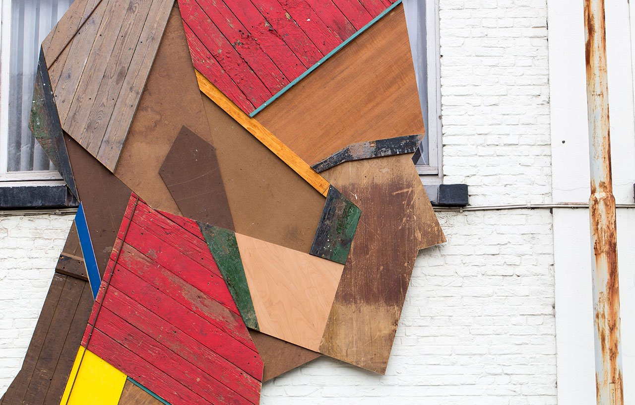 Wood & paint (detail), 2014. Photo © Strook.
