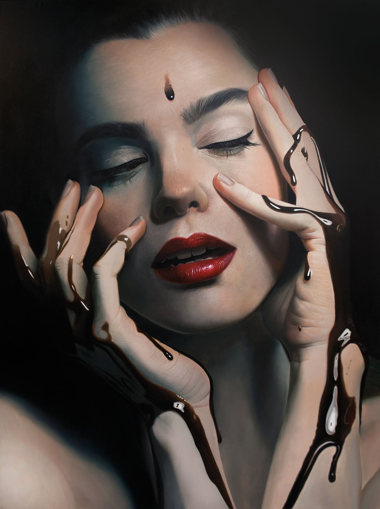 Mike Dargas,Fade to Black, 2016, Oil on canvas, 200x150cm.