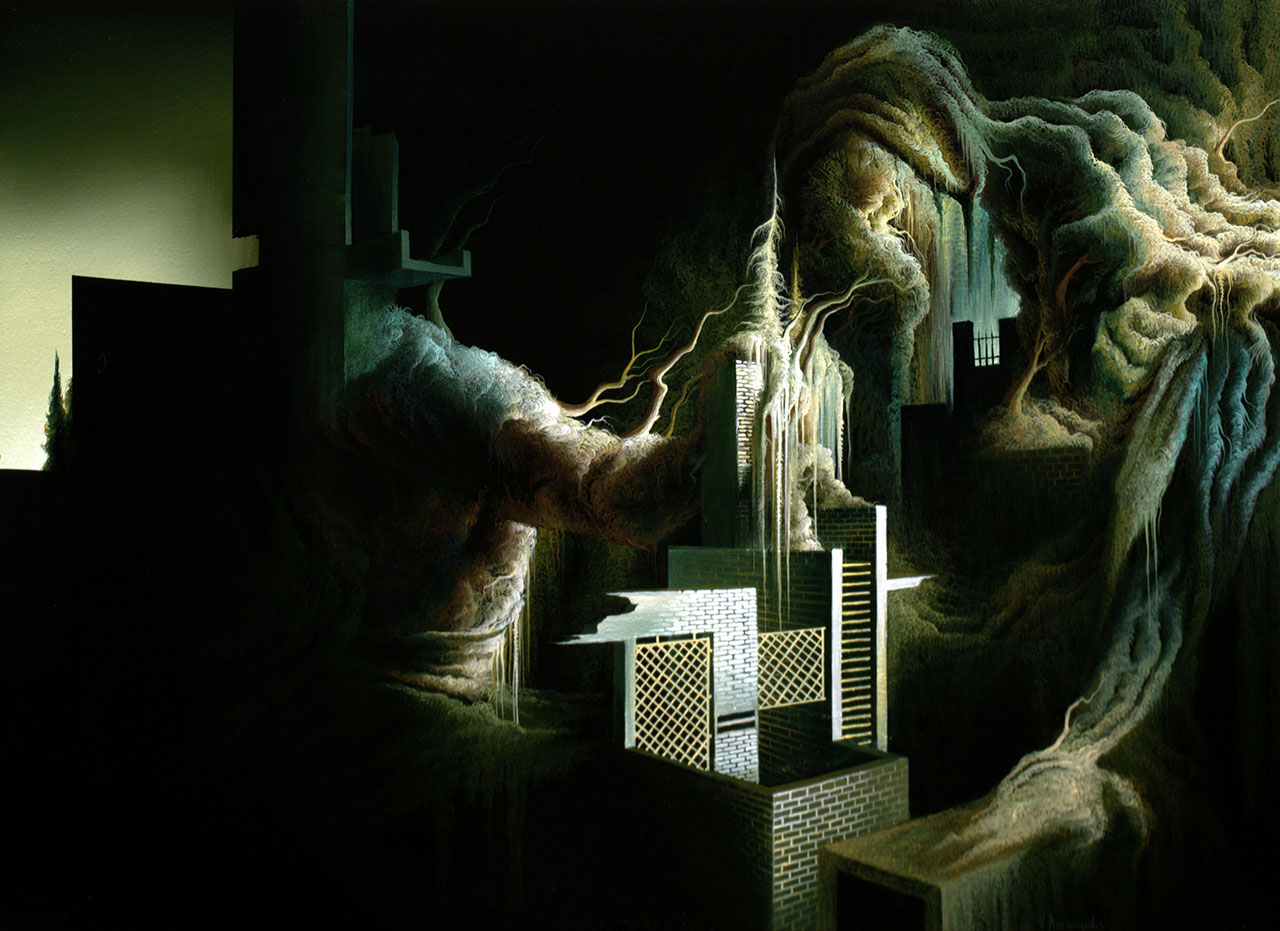 Vasilis Avramidis,Long season, 2014, 40x60cm oil on canvas.
