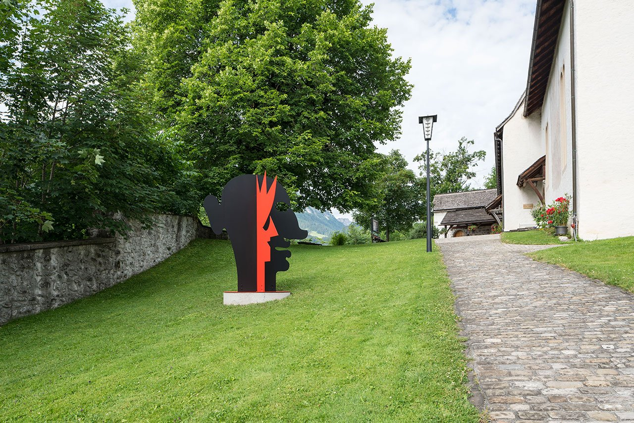 Alexander Calder, 'A Two-Faced Guy' (1969). Installation view, Church Saanen, Gstaad, Switzerland, 2016. © 2016 Calder Foundation, New York / DACS London. Courtesy Calder Foundation, New York / Art Resource, New York and Hauser & Wirth. Photo by Jon Etter.