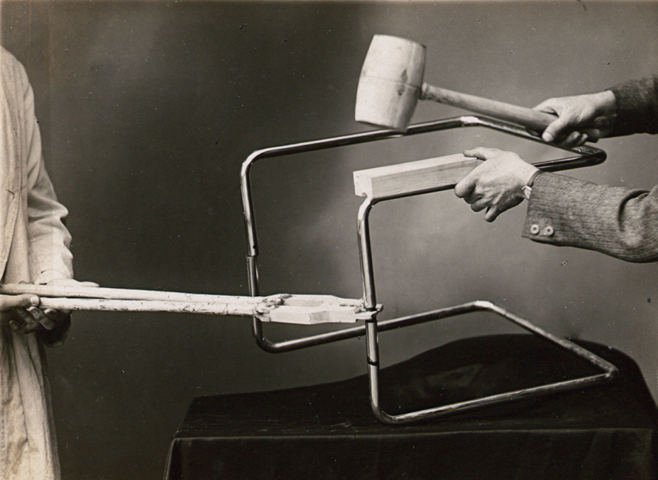 Photograph from an instruction manual for the usage of tools, Thonet brothers, 1935 , Collection Alexander von Vegesack, Domaine de Boisbuchet, www.boisbuchet.org (photographer unknown).