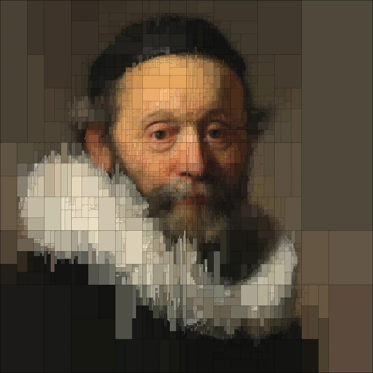 Johannes(detail), from Portraits series by Dimitris Ladopoulos (Original painting -Portrait of Johannes Wtenbogaertby Rembrandt Harmensz van Rijn,1633).
