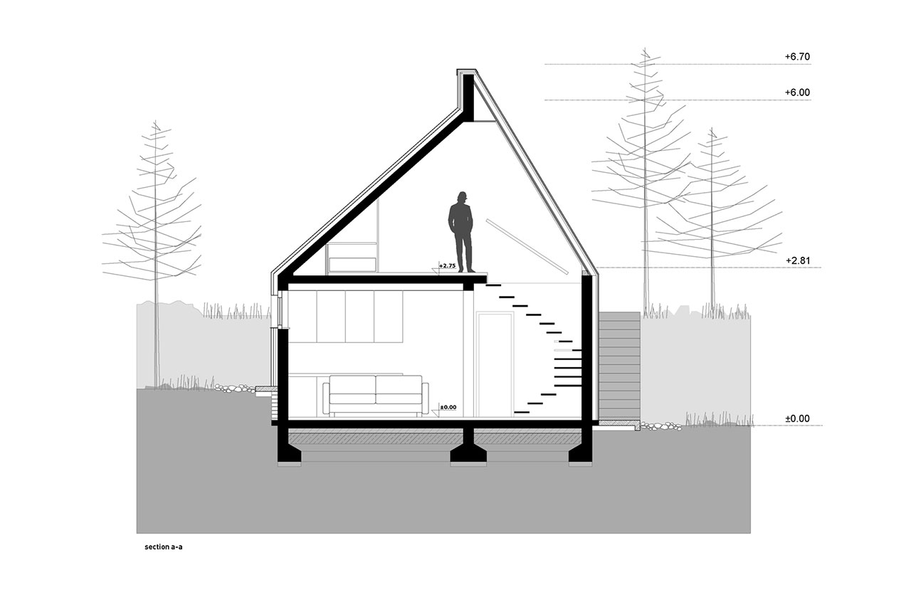 Divčibare Mountain Home, plan view.