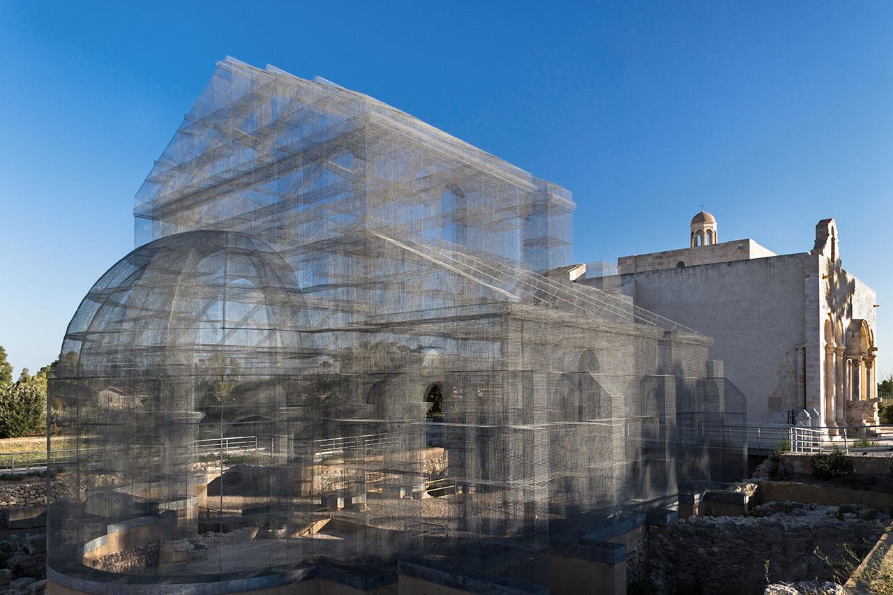 Edoardo Tresoldi,Basilica di Siponto(2016).Photo © Roberto Conte.