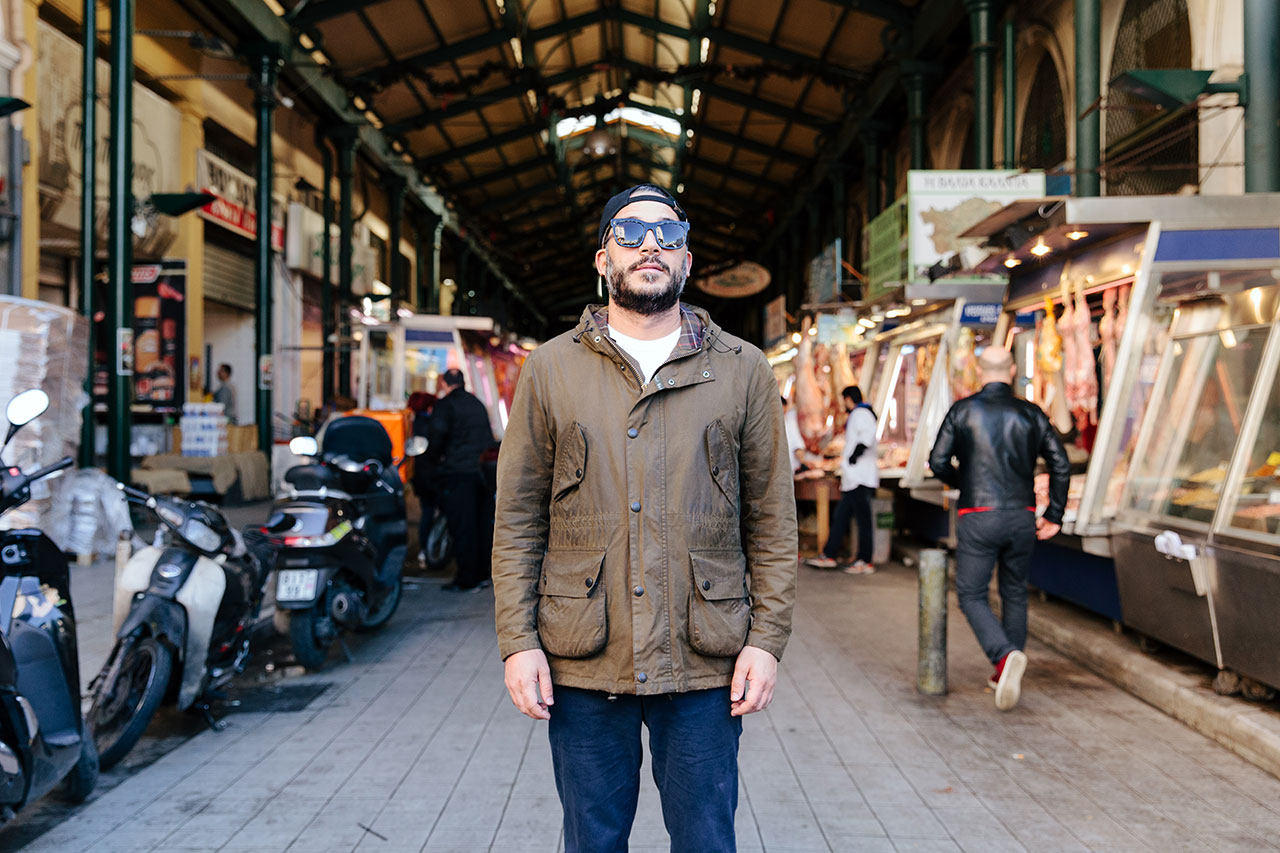 Carlo Mirarchi at the Central Market of Athens, Greece. Photo ©Paris Tavitian forEMBRACE byVezené.