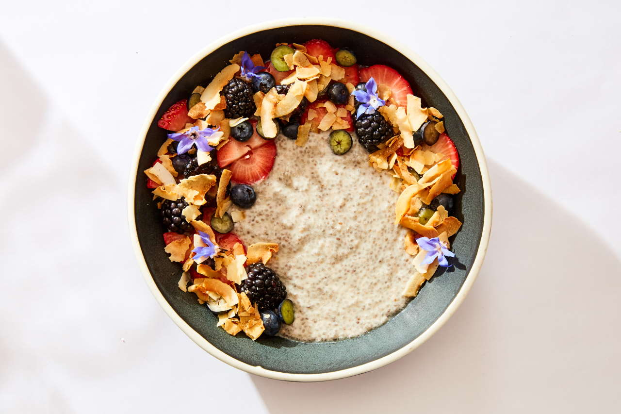 Coconut Chia Pudding. Photo by Ren Fuller.