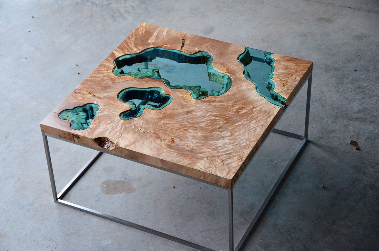 The Handcrafted Charm Of Greg Klassens Topographical Artwork Yatzer - Topographic coffee table