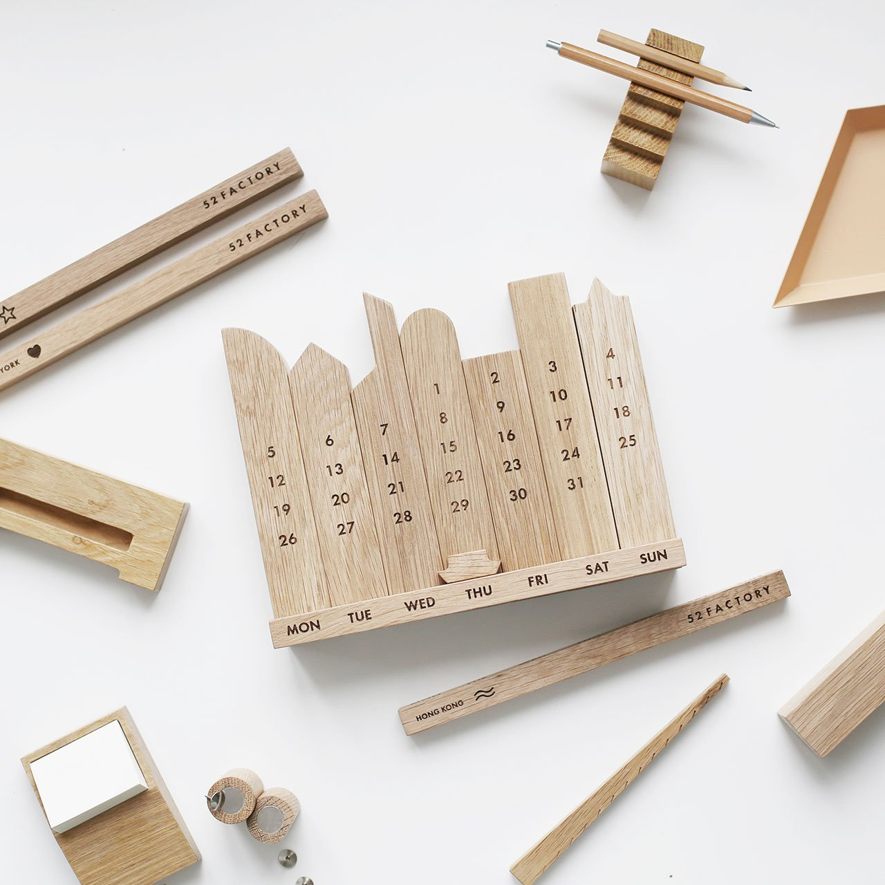 "Wooden calendar ""Hong Kong"" by 52 FACTORY. Photo courtesy 52 FACTORY."