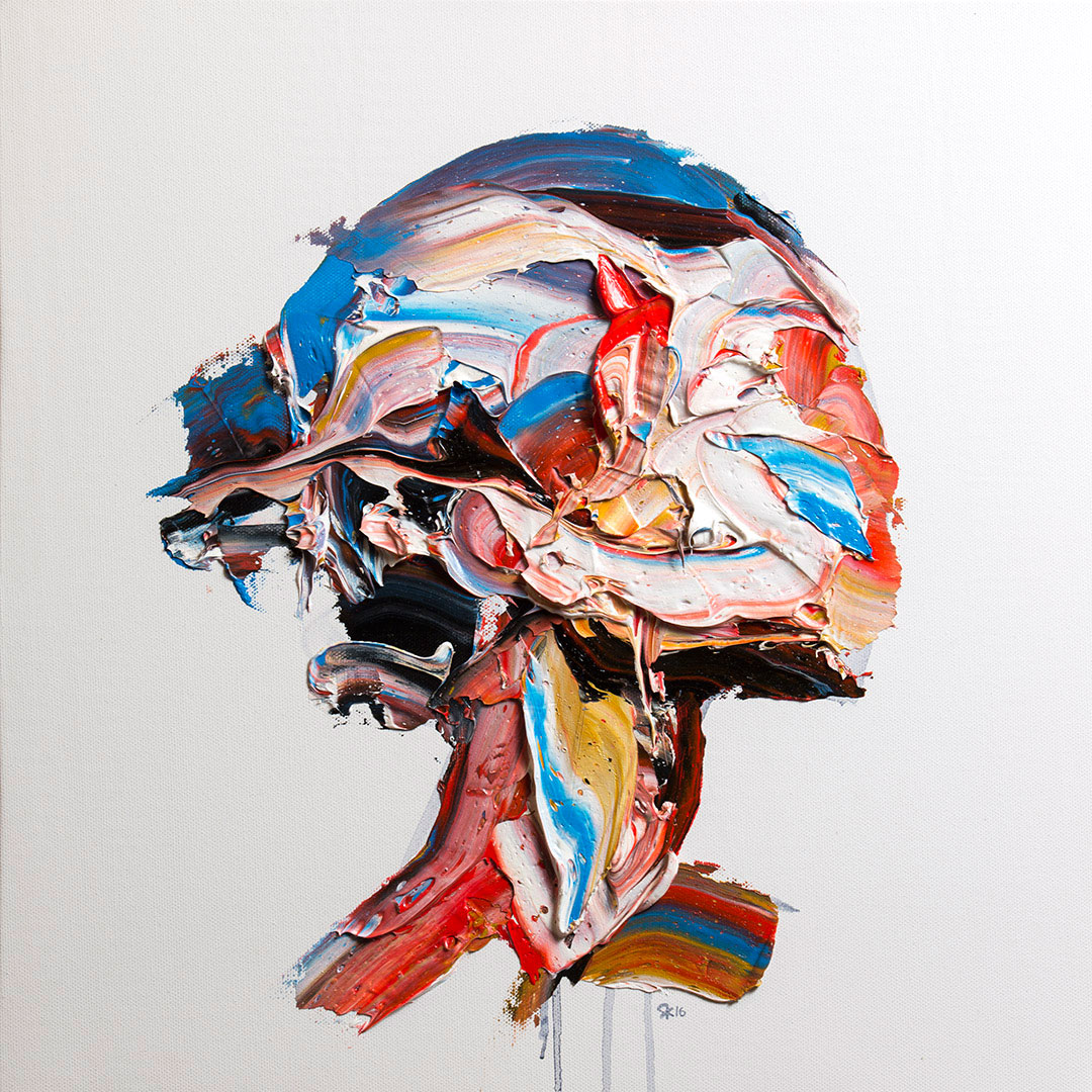 Salman Khoshroo,portrait study,48x48cm, oil on canvas.