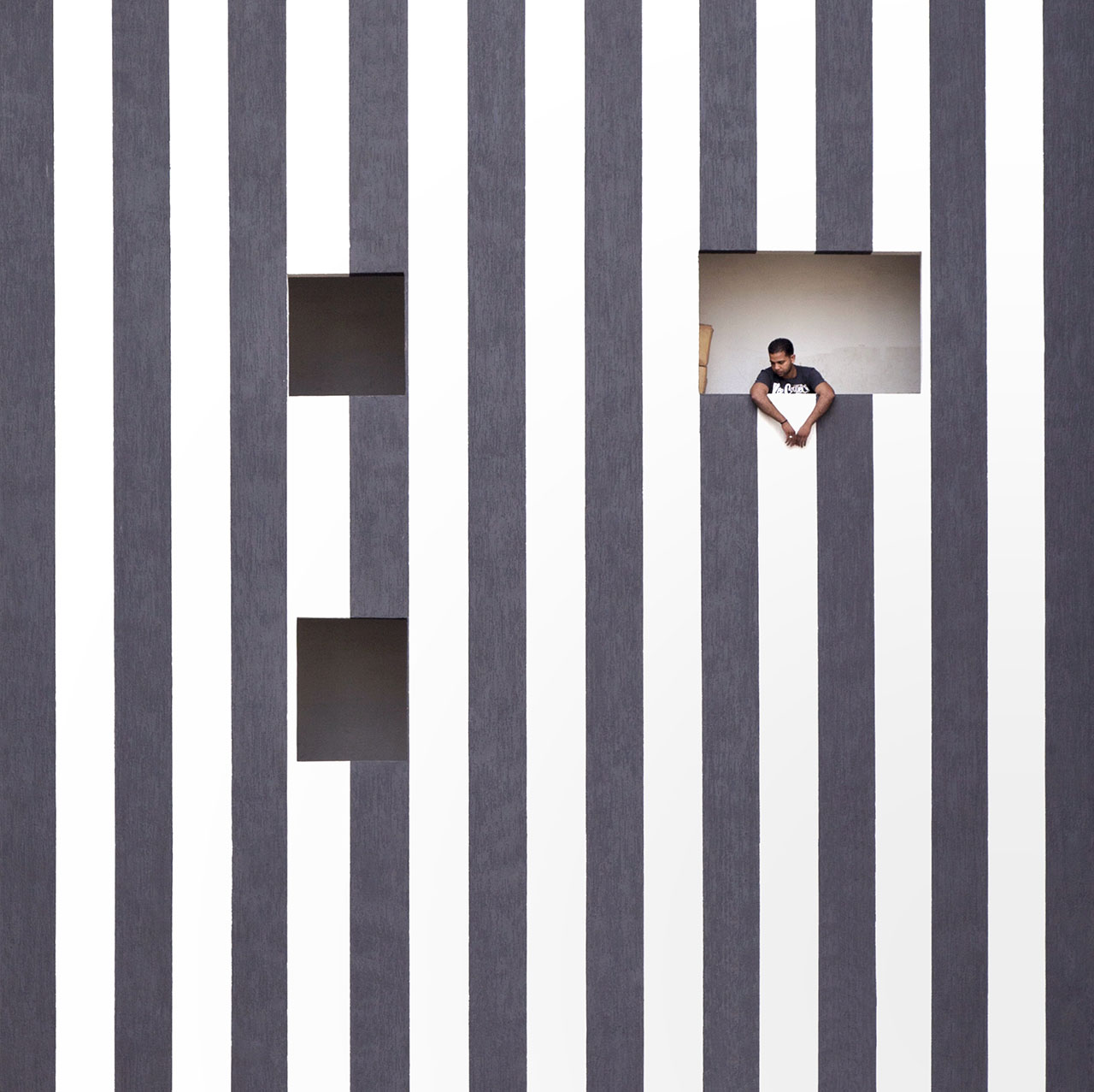 Zebra facade, photo © Serge Najjar.