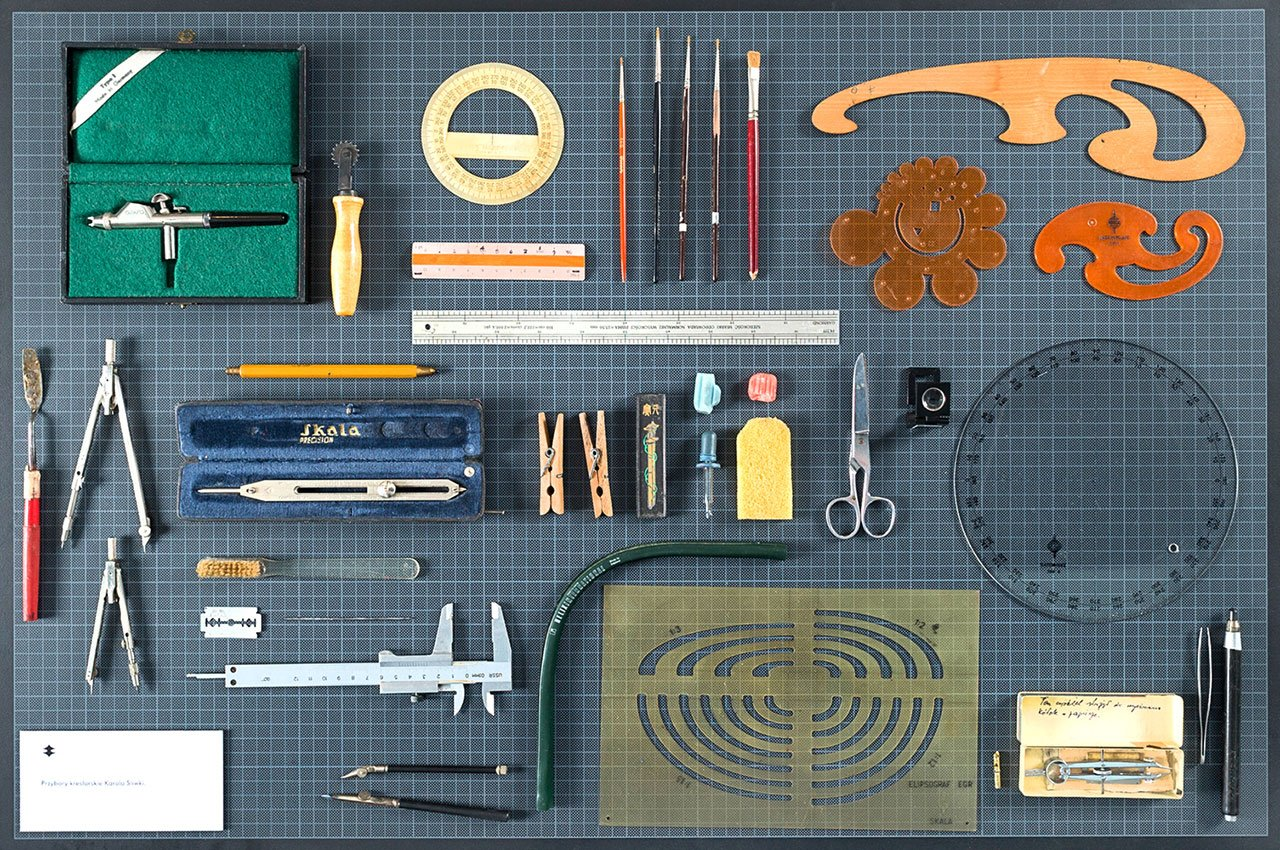 Graphic designer's tool box.  Photo by Bartosz Stawiarski.