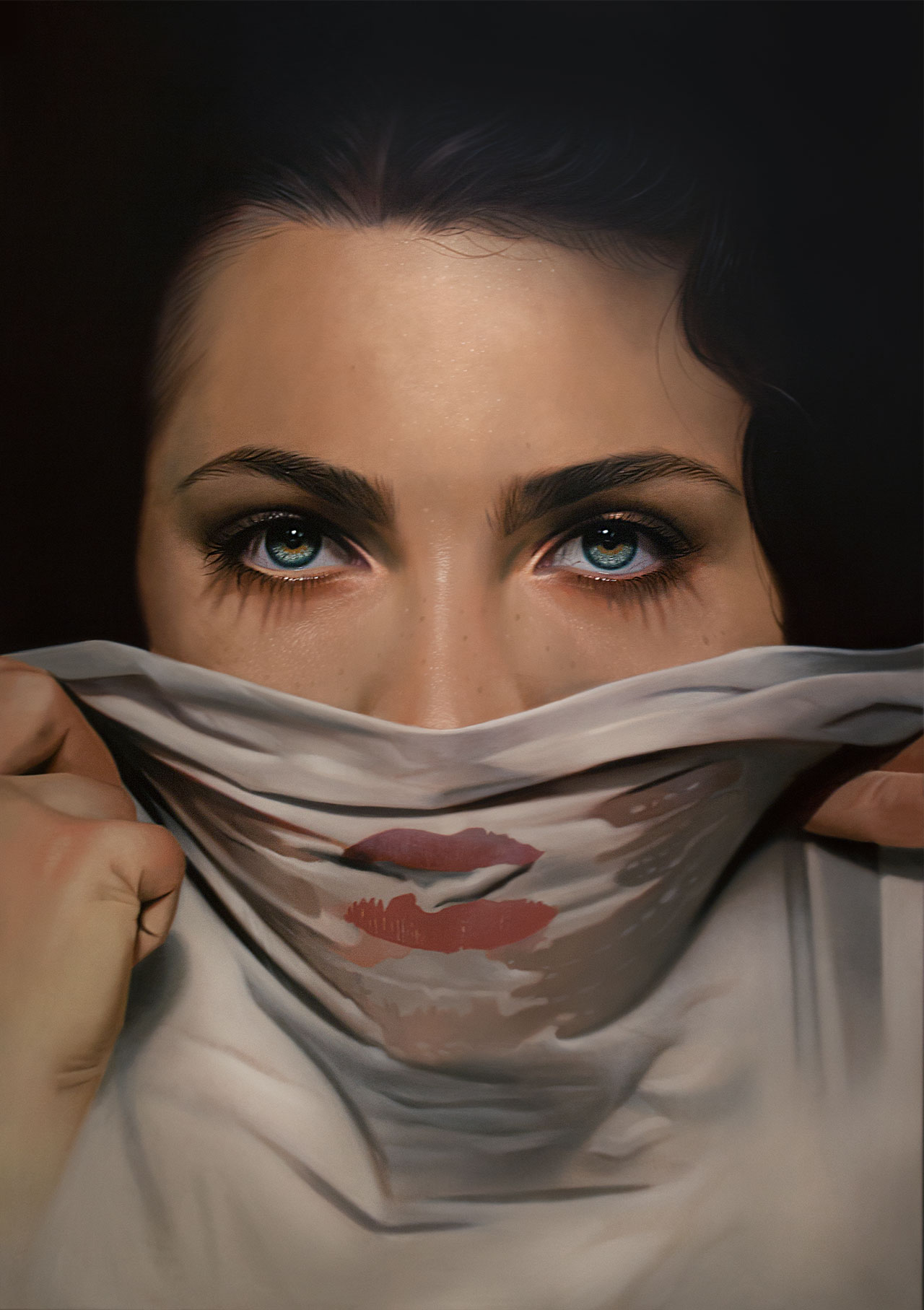 Mike Dargas,I won´t cry for you, 2016, oil on canvas, 200x140cm.