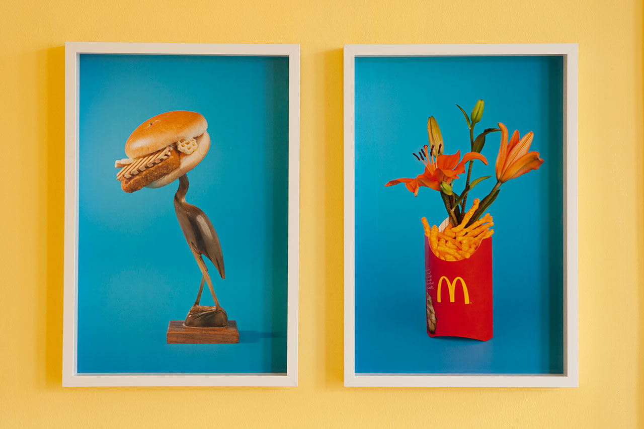 Tropical Punch at Galerie Nathalie Halgand, curated by keen on magazine. Left: Marc Horowitz, Keeping Up Appearances, 2014. Digital C-Print, 58,42 x 38,7 cm. Edition 3 of 3. Right: Marc Horowitz, Rock Bottom, 2014. Digital C-Print, 58,42 x 38,7 cmEdition 3 of 3.