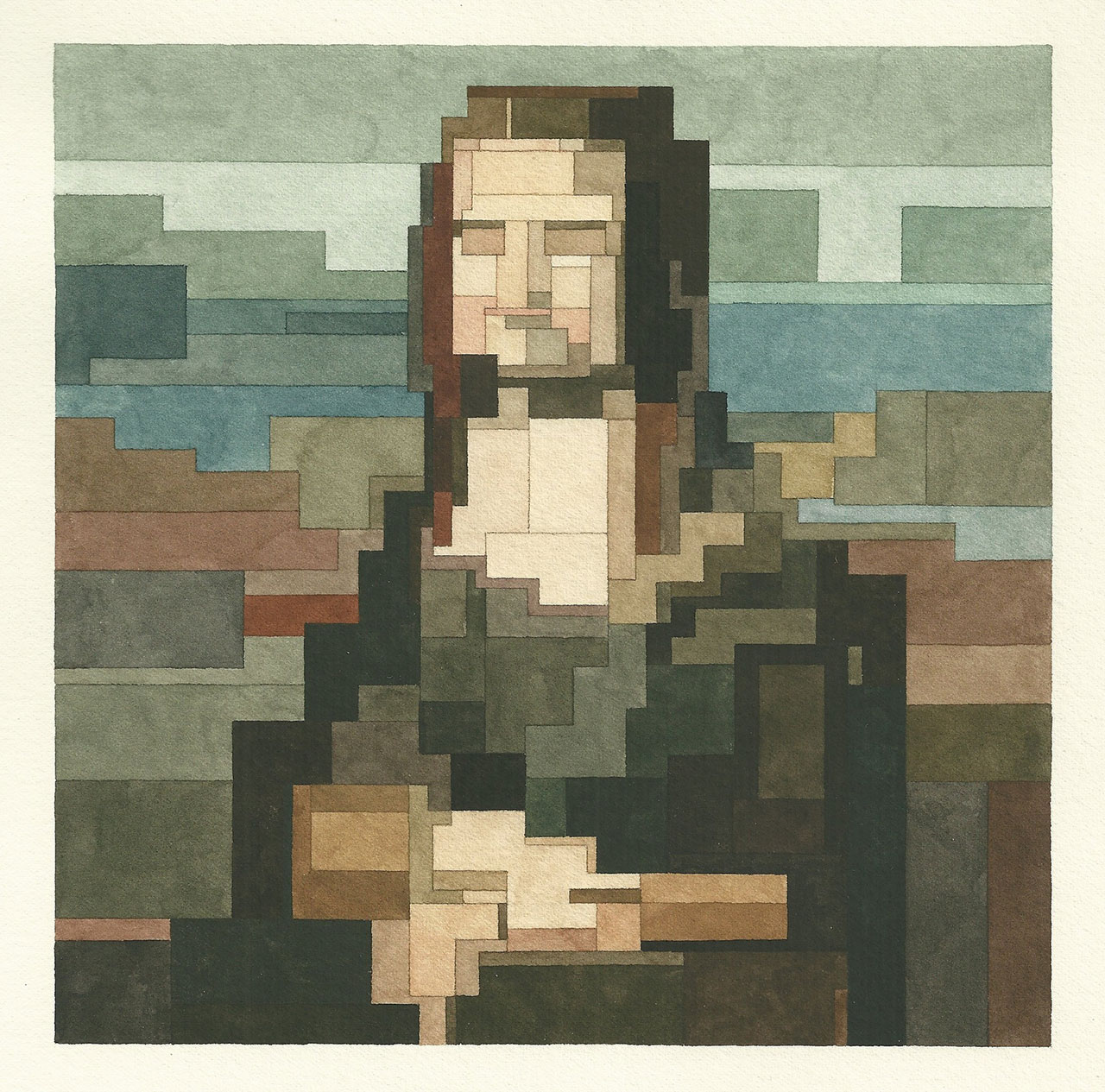 New Pixel Watercolour Paintings by Adam Lister will tell us a history watercolour paintings New Pixel Watercolour Paintings by Adam Lister will tell us a History f9 art history 101 adam lister yatzer