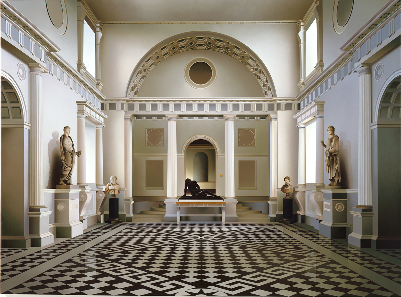 Ben Johnson Through Marble Halls 1994Acrylic on canvas55x72in / 139x183cm.