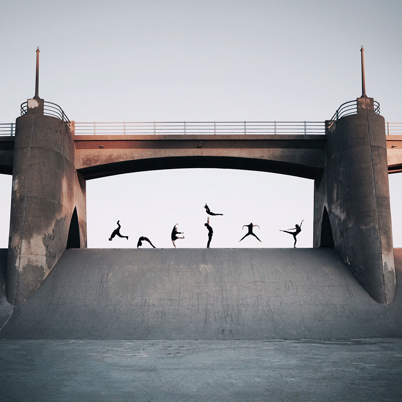 Location: Sepulveda Dam | Dancers: Jacob Jonas The Company | Photo © Rey Canlas, Jr from the series #CamerasandDancers.