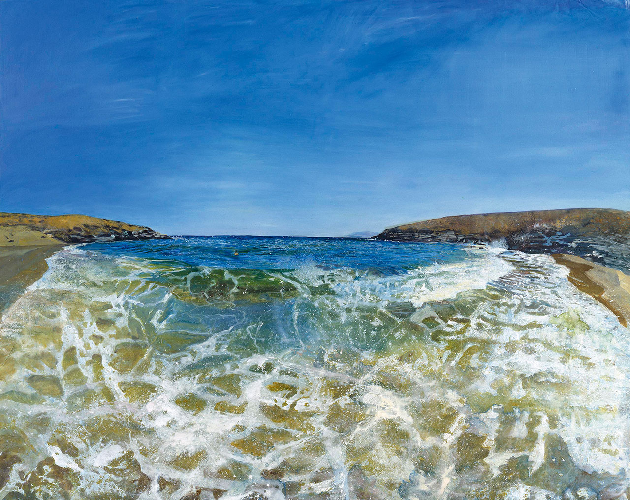 Maria Filopoulou, Sea, 1998. Oil on canvas, 200 x 250cm.