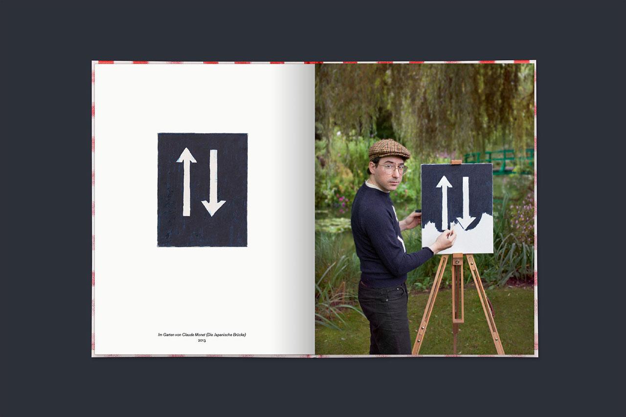 Im Garten von Claude Monet (Die Japanische Brücke),2013 (book spread).© 2016 Edition Taube,Hank Schmidt in der Beek,Fabian Schubert.