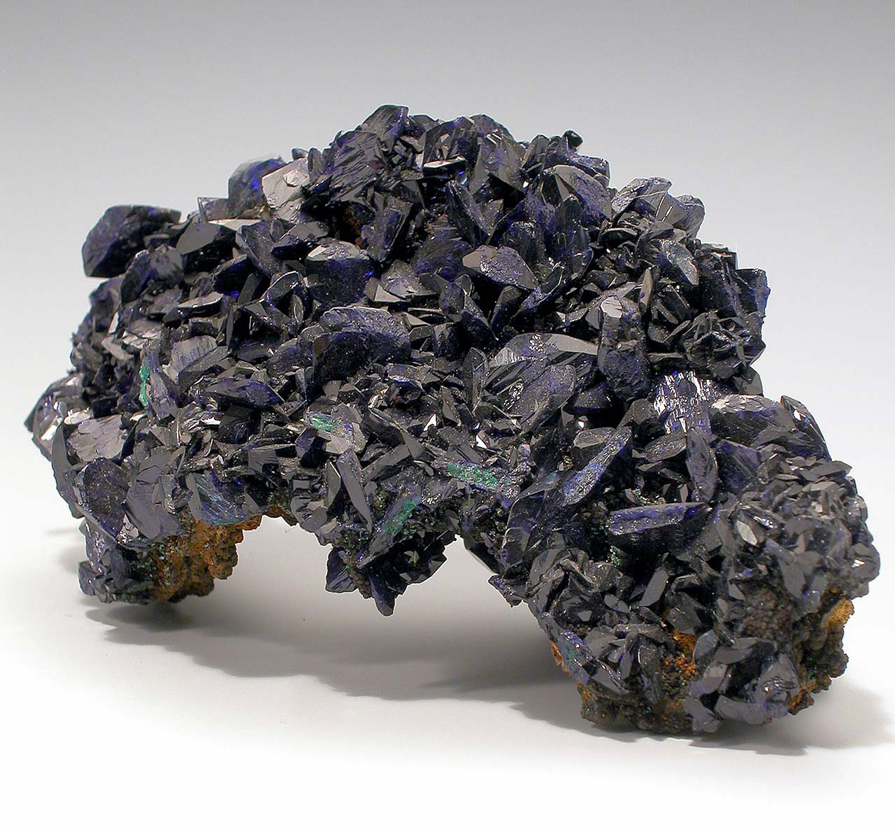 Azurite sample from the natural history collection of Hessisches Landesmuseum Darmstadt.