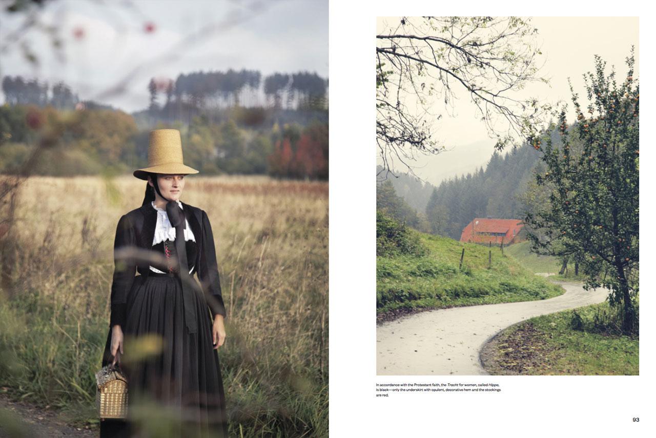 Schwenninger Tracht Black Forest and Baal,Schwenningen Photo by Gregor Hohenberg from 'Traditional Couture' © Gestalten 2015.