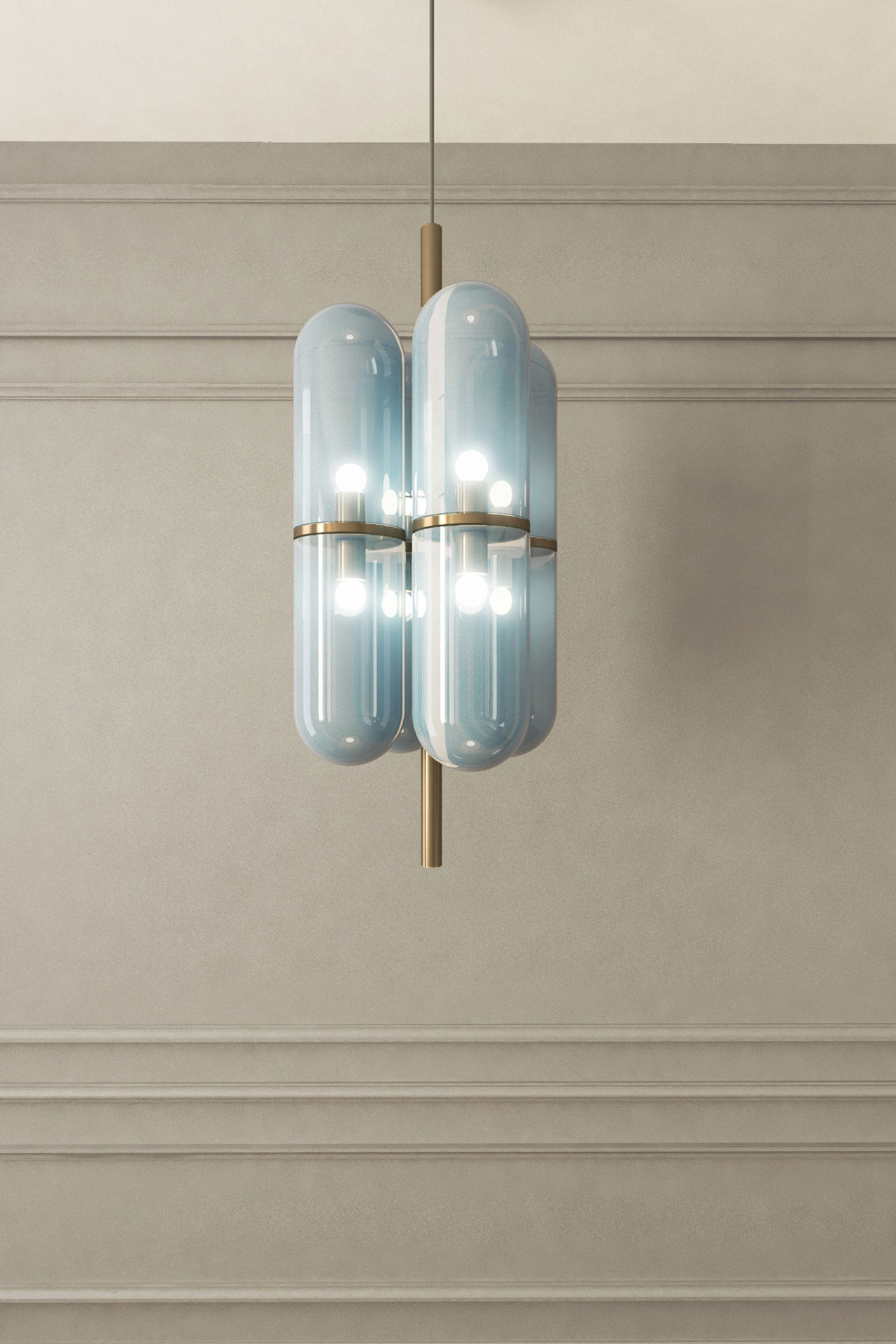 The Charlotte lamp by Federico Peri was presented at Nilufar Gallery.