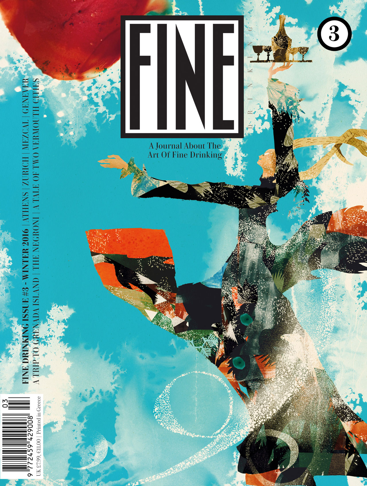 FINE DRINKING, issue #3.Cover illustrated by Daniel Egneus.