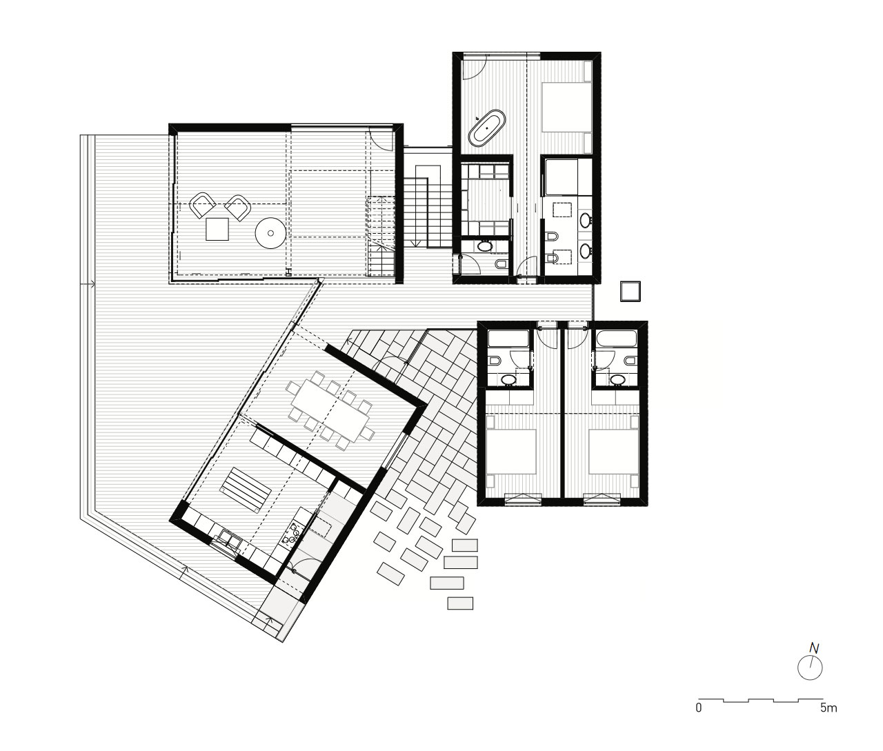 Main Floor Plan, © PROD Arquitectura.