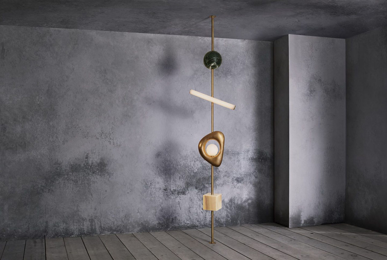 FORM totem light by London-born and NYC-based furniture and interior designer Anna Karlin debuted at Rossana Orlandi.