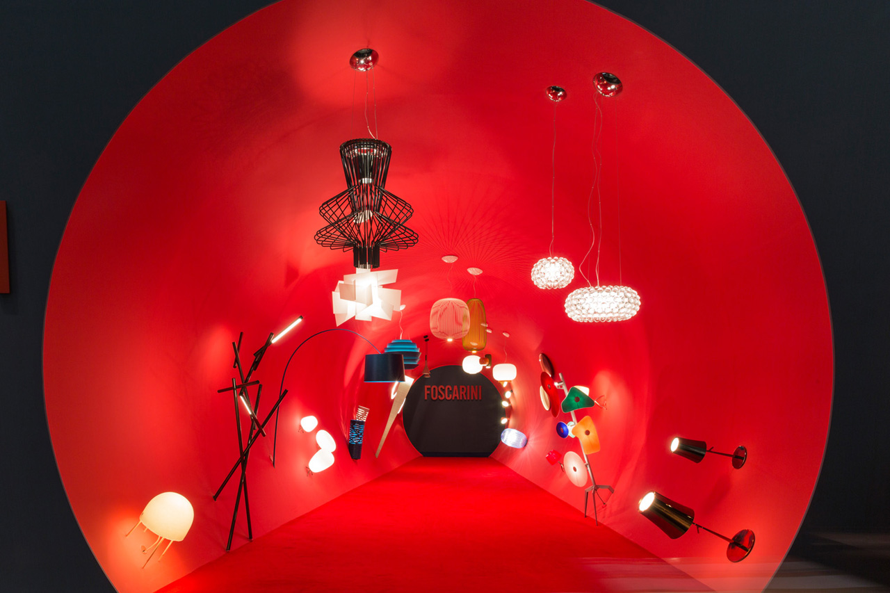 "Foscarini ""At a Glance"" installation, by Ferruccio Laviani, presented at Stockholm Furniture Fair."