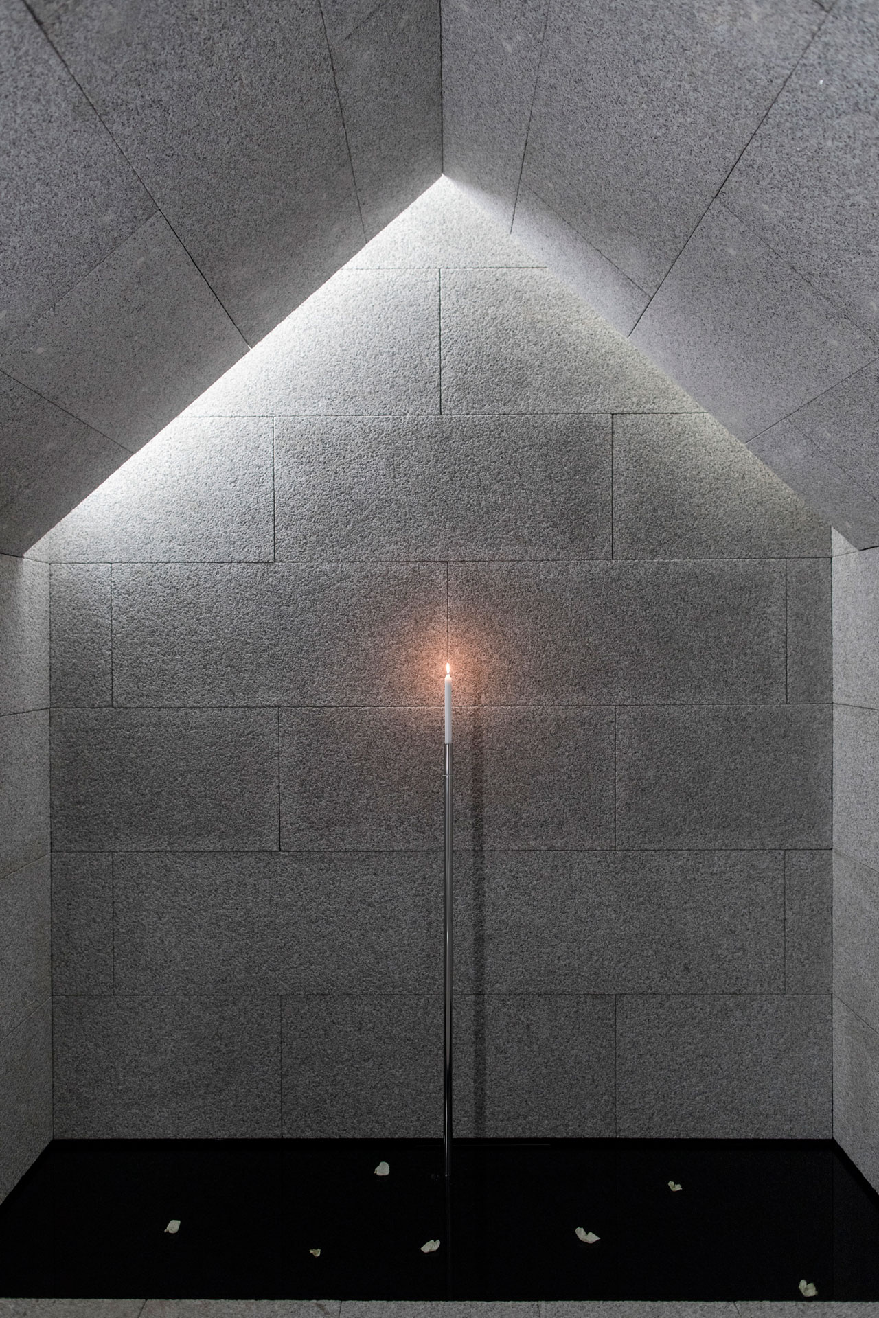 """FARE LUCE(Shedding Light)installation by architect Giovanni Maria Filindeu for Foscarini Spazio Brera.""""Six different settings, each corresponding to different forms of light, drawing on his childhood memories and special moments with light."""""""