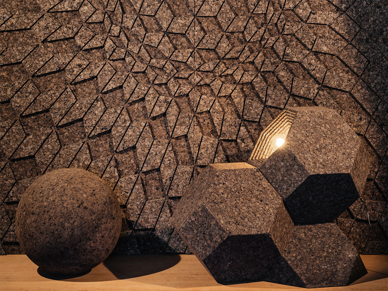 Cork covering solutions for artistic walls by GENCORK. Creative Direction by DIGITALAB.