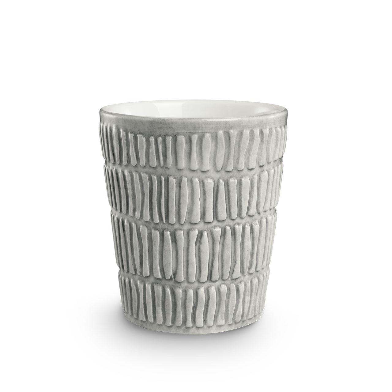 Stripes Grey mug. © Mateus Ceramics, 2020.