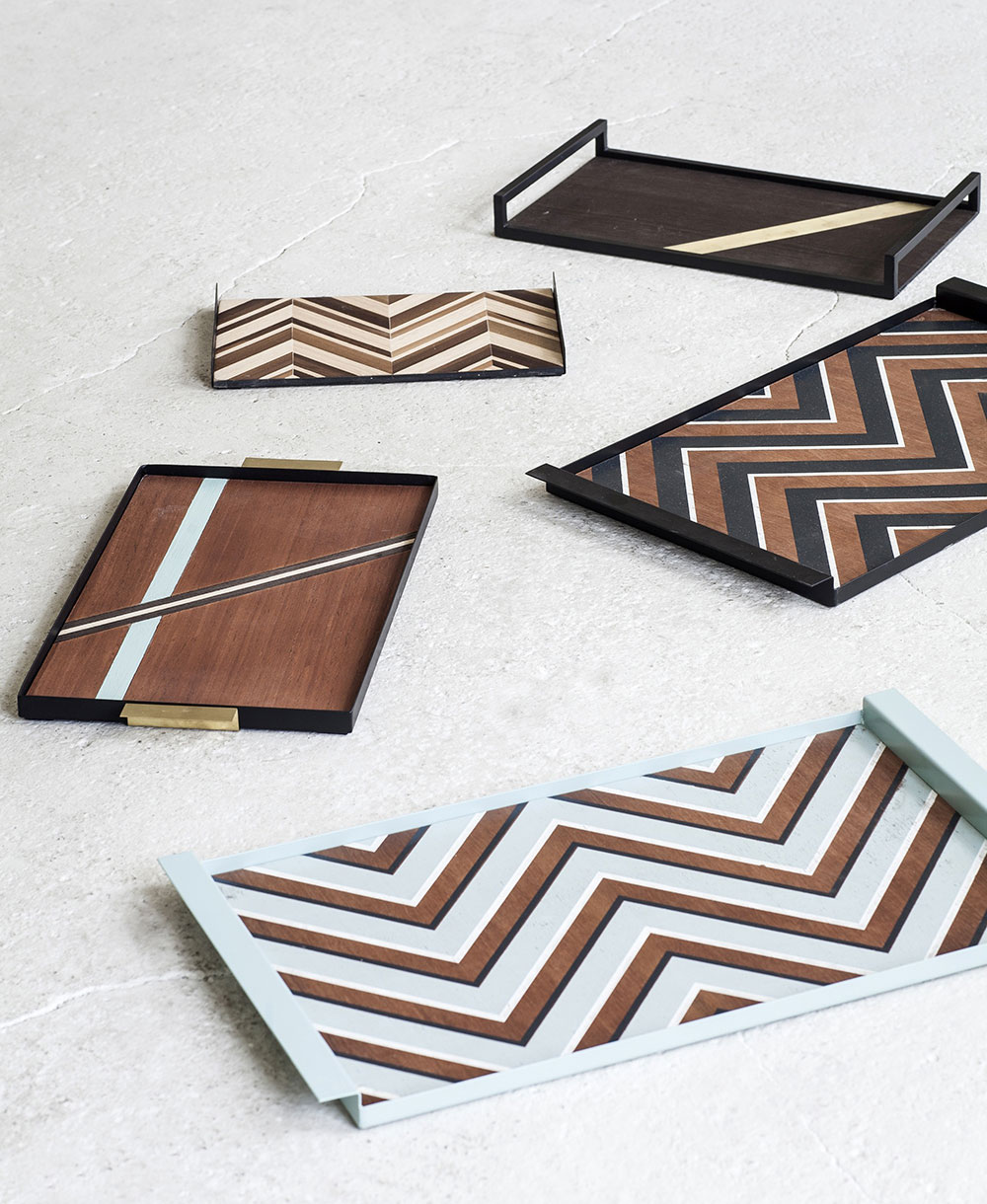 Trays by Michiel Goethals and Mattias Van Mieghem for SERAX.