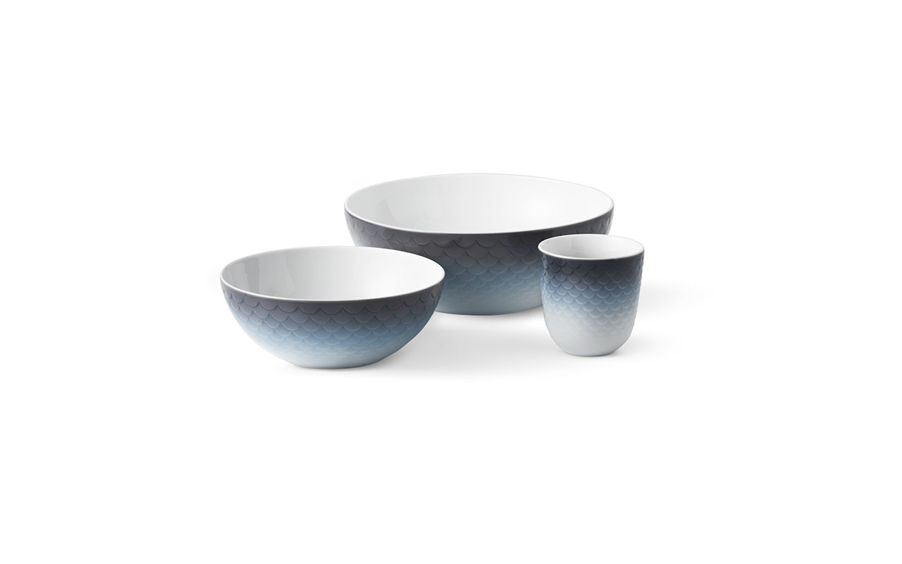 HAV (Ocean in Danish) dinnerware collection dedicated to the ocean by Royal Copenhagen.