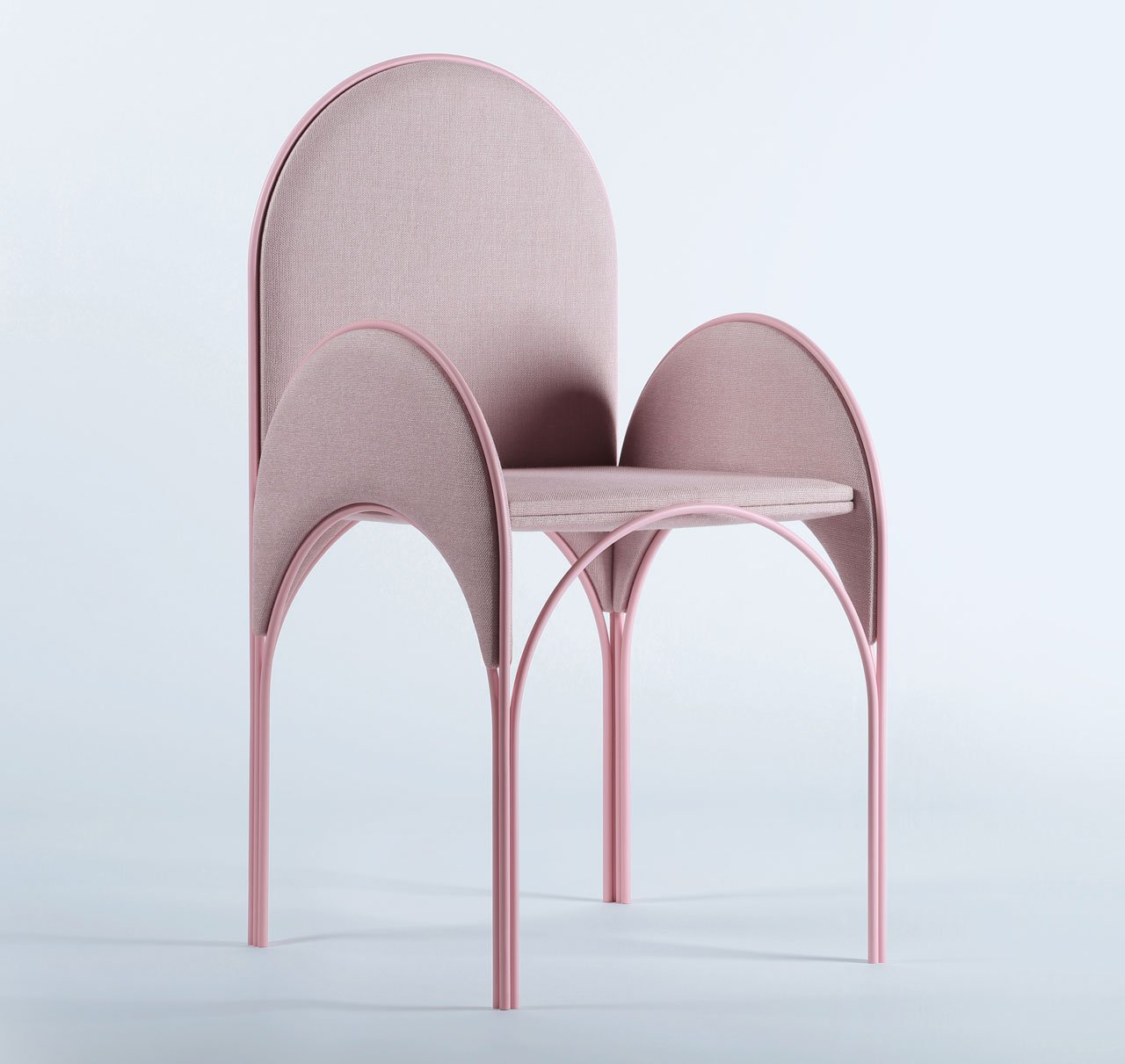 HAWA Beirut (Arabic: a light summer breeze or even a deep love, a passion toward someone or something) by Richard Yasmine. A collection of  light or airy furniture inspired from the arches of the Lebanese architecture.Photo by BizarreBeirut.