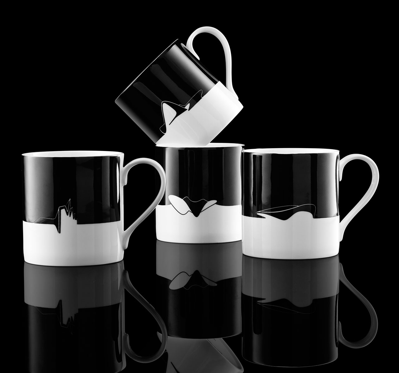 Icon Cups from the Zaha Hadid tableware collection 2016.