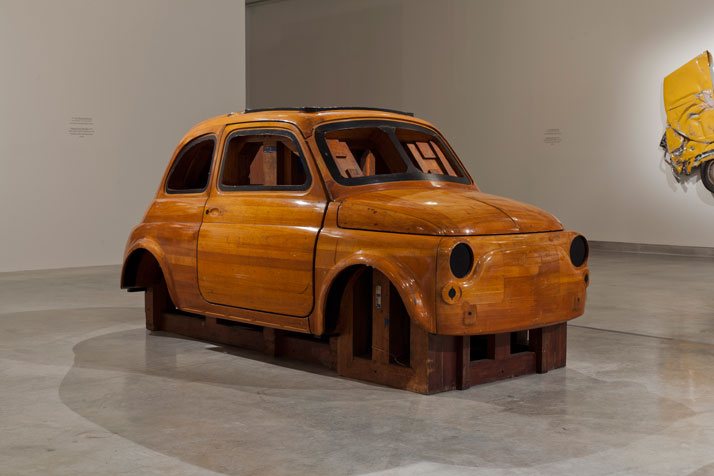 In Reverse, Centro Stile Fiat Wood mould for Fiat 500 (1956).Courtesy of Ron Arad Associates.