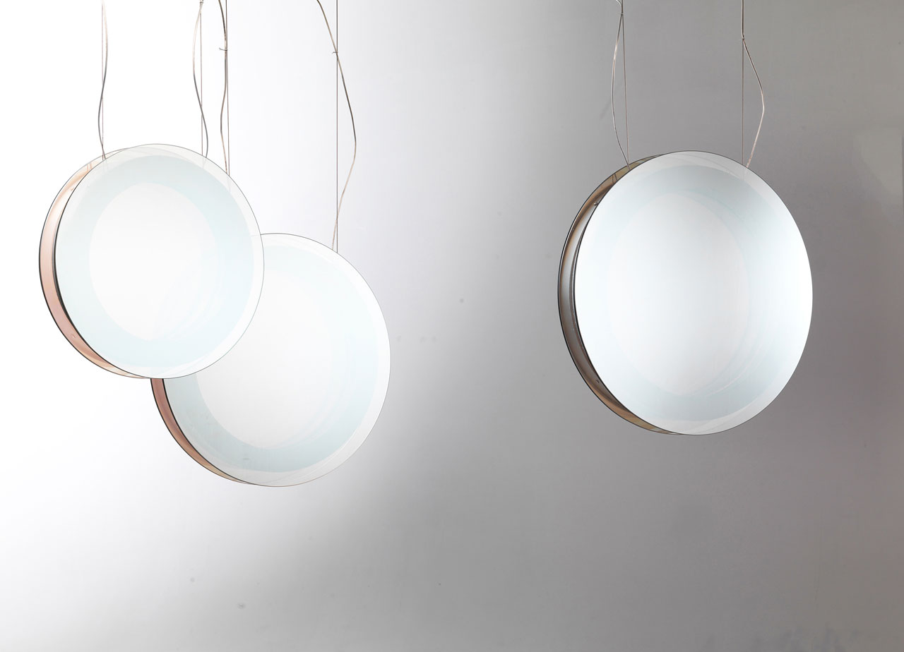 INFINITA hanging light + mirror by Filippo Mambretti (Mambrò Design Studio) for MOGG.