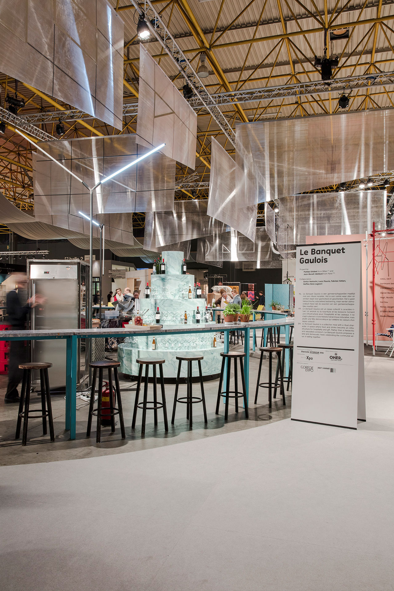 LE BANQUET GAULOIS: One of five award-winning bar/restaurants at Kortrijk Xpo. Concept by Matteo Ghidoni from Milan (Italy) and Jean-Benoît Vétillard from Paris (France). Photo © Piet Albert Goethals.