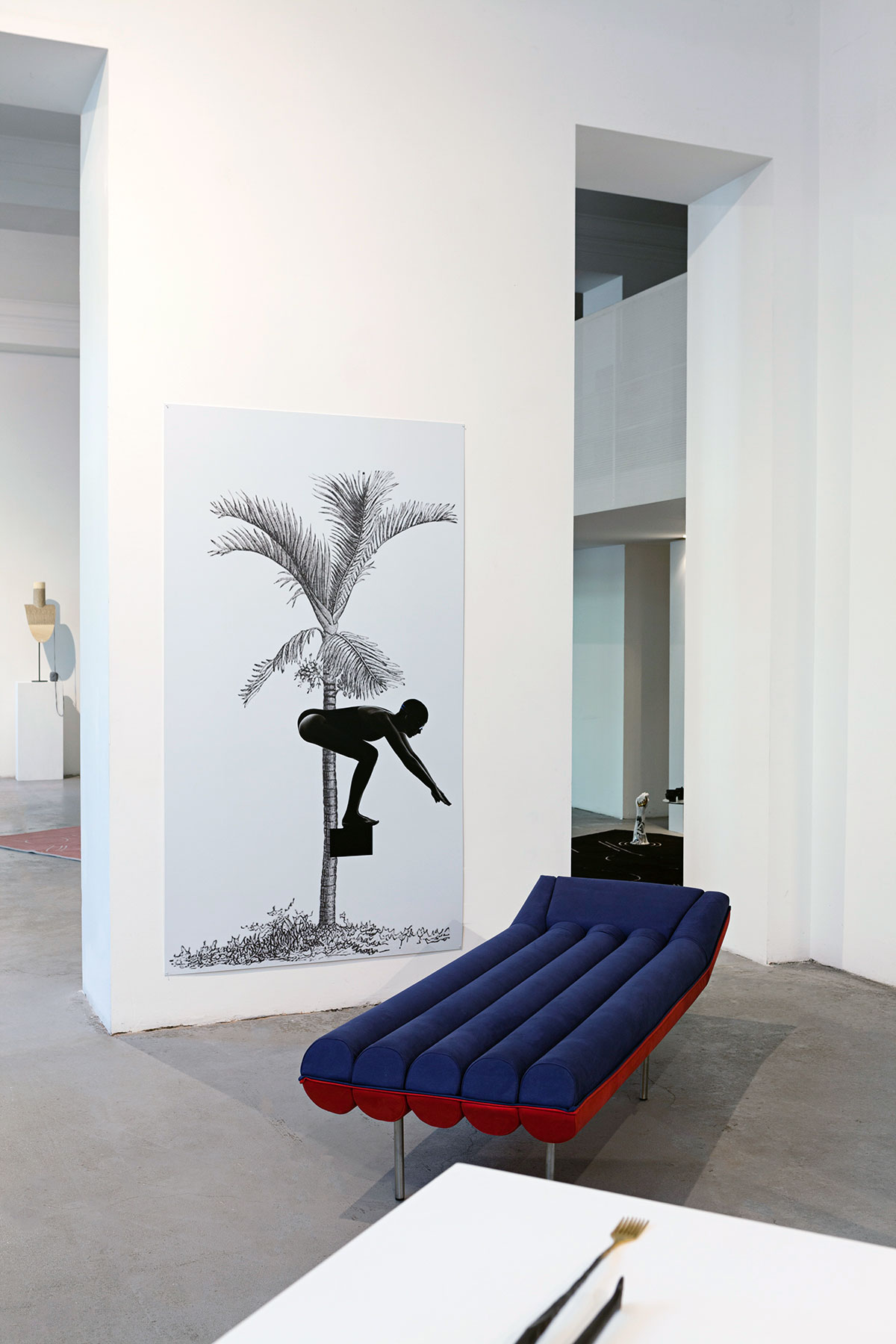 """Installation view of the""""IRONICALLY ICONIC: UNEXPECTED DESIGN FOR EXPECTED USES"""" exhibition organized by Valorizzazioni Culturali 