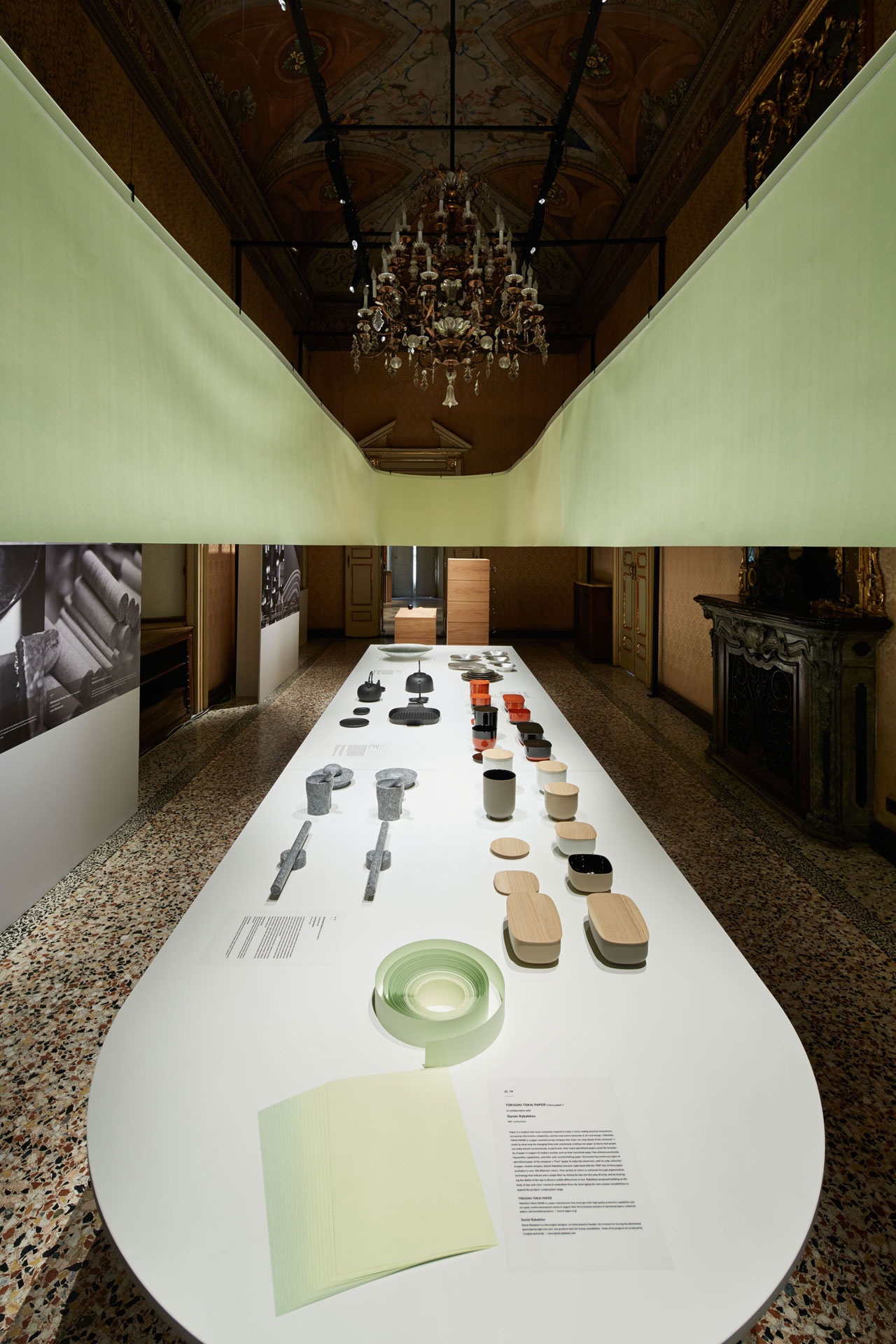 The exhibition of Japan Creative inside Palazzo Litta during Milan Design Week 2017.