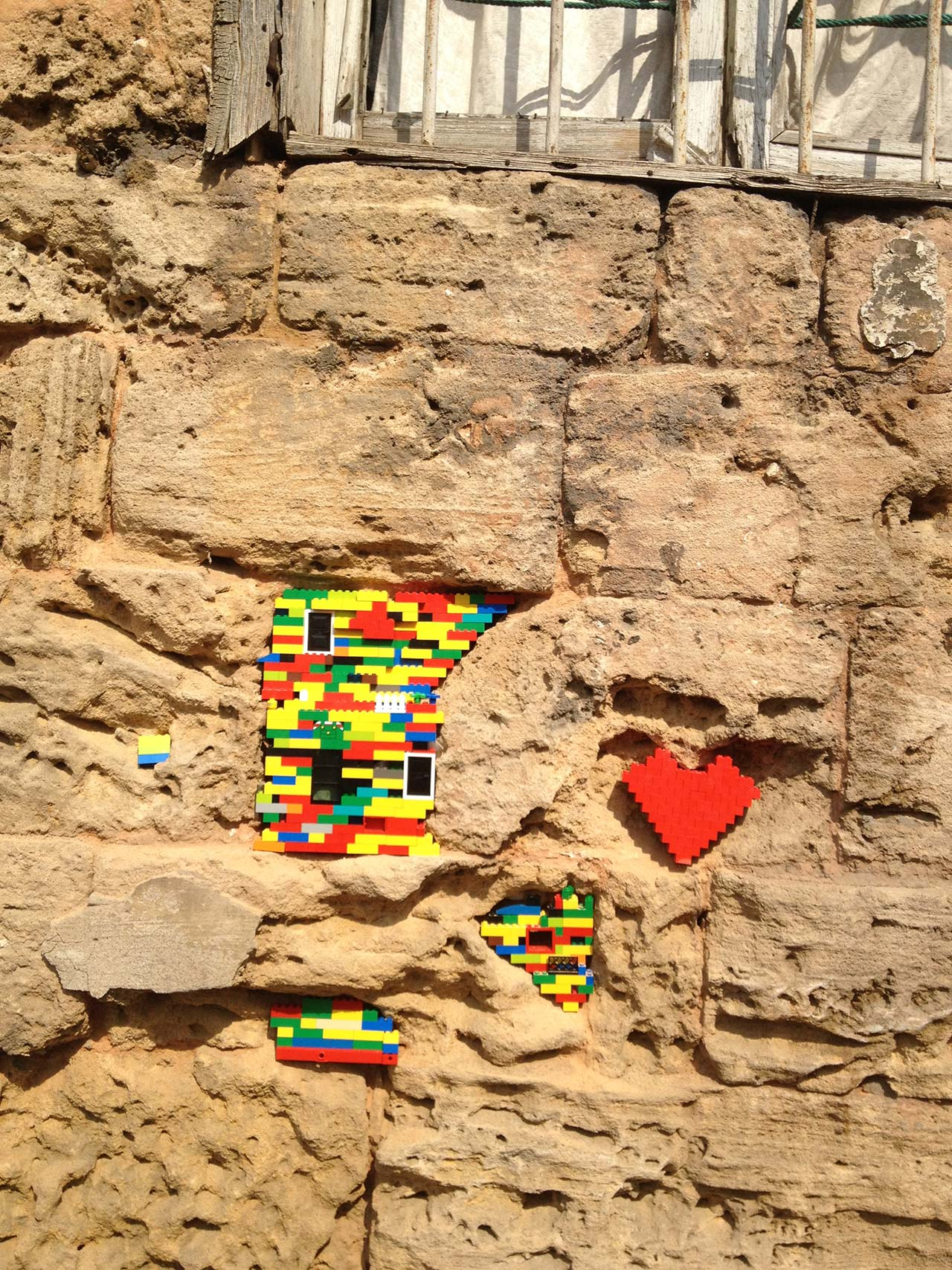 Little Bricks, Big Message by Dispatch Beirut whose work was part of the public interventions at Jeanne d'Arc Street.